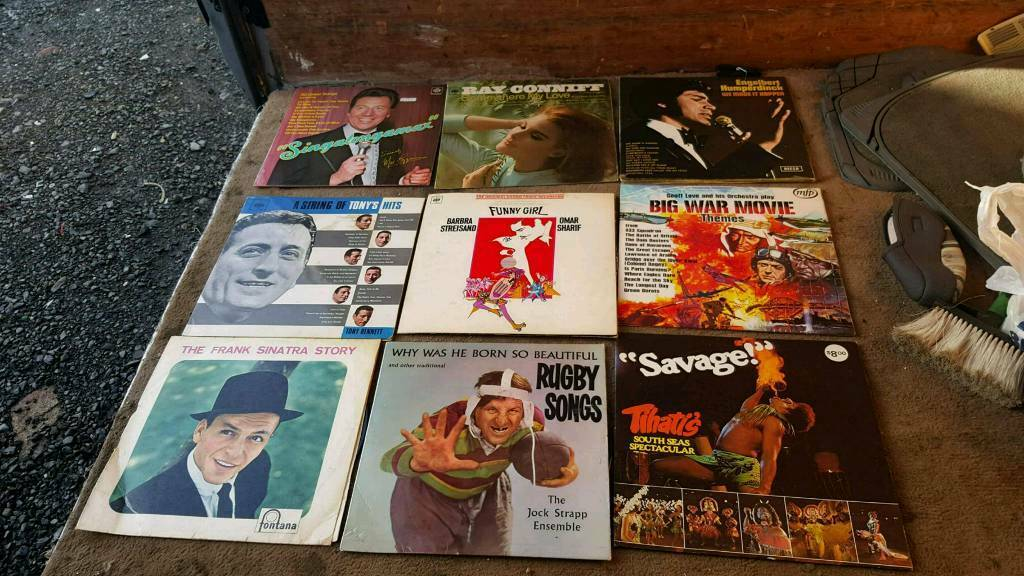 Vinyl records job lot