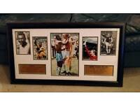 Framed Iconic Photo of Bobby Moore and Pele