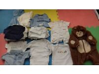 Up to 1 month baby boy bundle