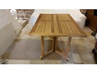 Teak Drop Leaf Table for Dining/Patio to seat 6 people