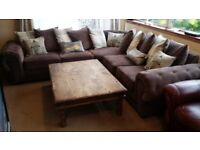 Sofa corner, as new, 280cm x 280cm, used only for two months, reason leaving the country