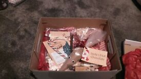 Personalised childrens xmas eve boxes full of xmas goodies, santas special key & a letter from santa