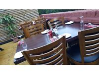 Running Restaurant and Takeaway with 16 year Lease remaining. 2 Floors+Garden. West-Hampstead