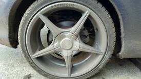 Wolfrace alloys with tyres 205 45 17