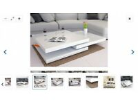 Dwell White Gloss Coffee Table