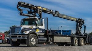 2006 INTERNATIONAL 7500 BOOM TRUCK  HEILA