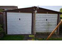 Large double prefab garage