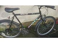 MAGNA MENS MOUNTAIN BIKE 22 INCH FRAME, 26 INCH WHEEL'S, GOOD TO GO.