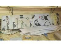 Banksy print artwork canvas