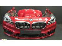 Front end left hand Bonnet Bumper LED Headlight Radiator drive BMW 2 Series F46 Sport Line GT LHD
