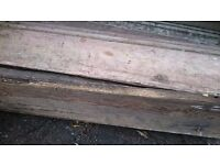 Old victorian skirting board