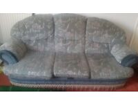 3 seat sofa 2 armchairs and puf
