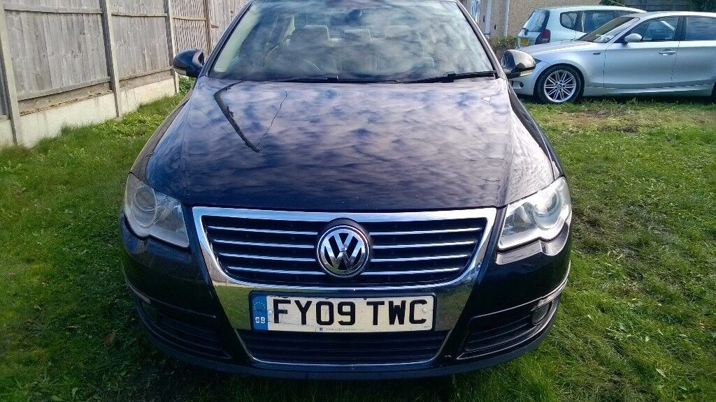 2009.VolkswagenPASSAT 2l.TDI, Black with white Leather,One key,Long 9 month MOT,new battery,