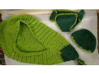Baby knit bean bunting costume