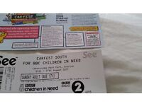 CARFEST SOUTH CHILDREN IN NEED SUNDAY 27TH AUG 2 ADULT TICKETS £70 EACH