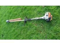Stihl long reach hedge cutter with large multi angle cutting head