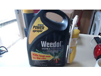 Weedol Gun Ultra Tough Weedkiller - 5litres + battery Power Sprayer