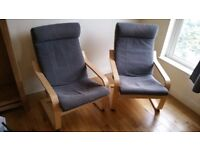 Ikea POÄNG Armchairs £20 each or 2 FOR £35!!! Great condition!!