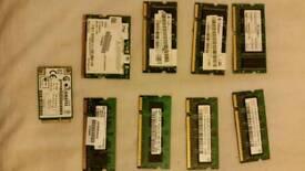 Various laptop Ram + Wifi Card