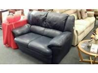 Stylish leather black sofa