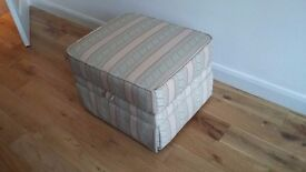 Footstool made by Delcor, ivory/pale green, immaculate condition, make me an offer