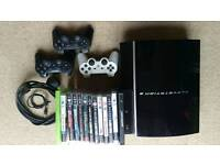 PS3 80 gb console with 16 games.