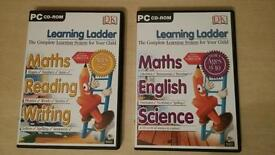 Learning ladder PC learning game for ages 5-7 and 9-10