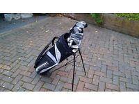 Full set of Donnay golf clubs including bag and balls