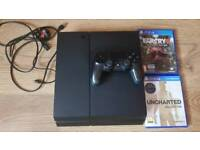 PlayStation 4 500gb with controller, leads and 2 games