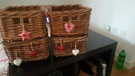 Baskets- woven natural wood