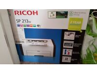 RICOH black and white printer - never used