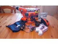 NEW Black & Decker DIY Cordless and 230v tool set, never used, see photos and details