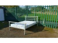 Solid double Bed with mattress (delivery availble)