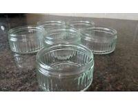 6 x Glass Souffle / Ramekin dishes