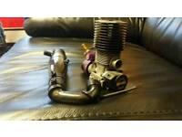 Hpi throphy buggy 3.5 nitro rc engine exhaust