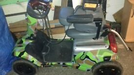 Mobility scooter camo one of a kind