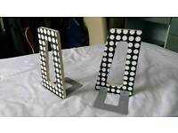 Book ends - black/white spotted pattern IKEA great condition