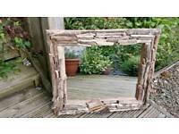 A Beautiful Medium Sized Driftwood Mirror