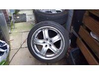 19x5x114 deep dish alloys with good tyres