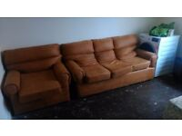 LEATHER THREE SEATER SOFA SUITE **BRAND NEW**