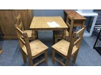 **BRAND NEW** Small Corona Dinning Table & 4 Chairs