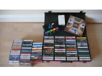 Cassettes job lot (105 qty) in VGC including some rare to find plus a carry case