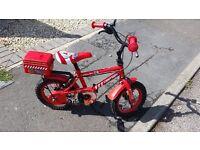 Boys Bike Fire Chief Bike for 3-4 year old