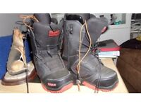 Snowboard boots size 8.5 uk