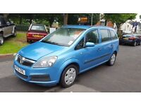 2005 55 VAUXHALL ZAFIRA LIFE 1.6L PETROL 7 SEATER ++12 MONTH MOT INCLUDED++WARRANTY AVAILABLE++