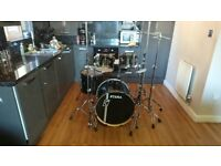 Tama Superstar Hyperdrive 5pc Drums - Hairline Metalic Black