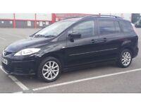 Mazda 5, 2009 Diesel 1.9 , Manual,black, 7 seats ,HPI clear,AC,long MOT,Only 62000 miles