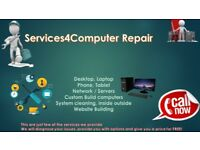 Computer repairs, cleaning, phone, laptop ,web building, home&office services fast & cheap