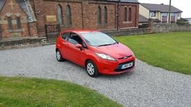 60 REG FORD FIESTA 1.6 TDCI ECONETIC 3DR RED MOT-18 2-KEYS FSH 1-OWNER £30-TAX SHOWROOM CONDITION