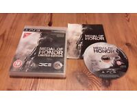 SONY PS3 GAME MEDAL OF HONOR EXCELLENT CONDTION